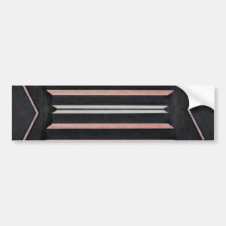 Rich Red n Black Horizontal Stripes Car Bumper Sticker