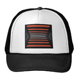 Rich Red n Black Horizontal Stripes Hat