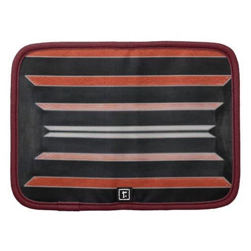 Rich Red n Black Horizontal Stripes Organizers