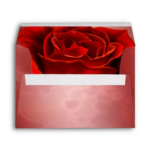Rich Red Rose Envelope