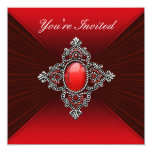 Rich Red Velvet All Occasion Party Template Personalized Invitation