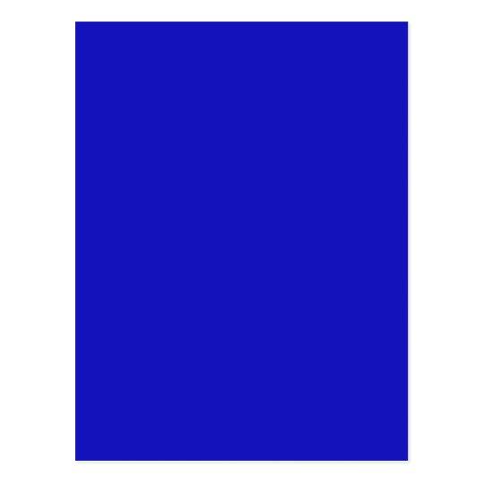 RICH ROYAL BLUE (solid color) ~ Postcard | Zazzle.com