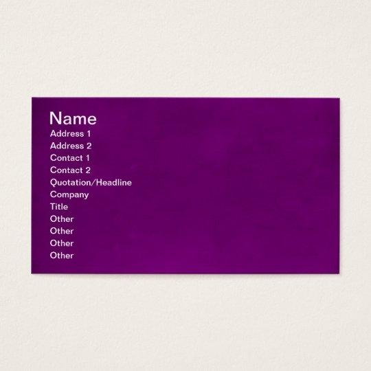 RICH ROYAL PURPLE LUXURY GRAPE COLOR TEXTURES TEMP BUSINESS CARD