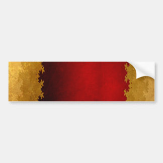 RICH ROYAL RED GOLD WINTER SNOWFLAKES BACKGROUNDS BUMPER STICKER