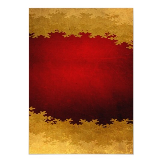 RICH ROYAL RED GOLD WINTER SNOWFLAKES BACKGROUNDS CARD