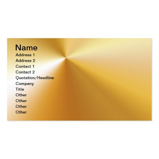 RICH SATIN SILK METALLIC GOLD  BACKGROUNDS DIGITAL Double-Sided STANDARD BUSINESS CARDS (Pack OF 100)