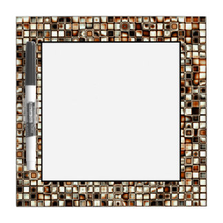 Rich Sepia Tones Textured Grid Pattern Dry Erase Board