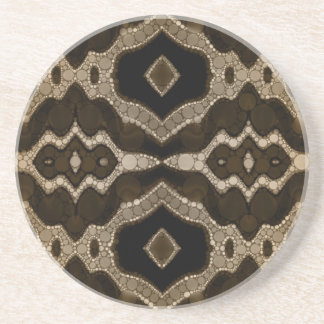 Rich Sofia Abstract Pattern Sandstone Coaster