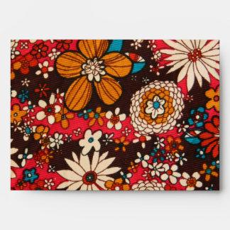 Rich sumptuous vintage floral textile pattern envelope