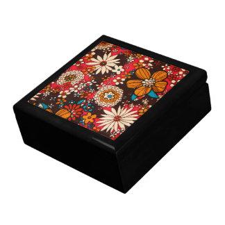 Rich sumptuous vintage floral textile pattern gift box