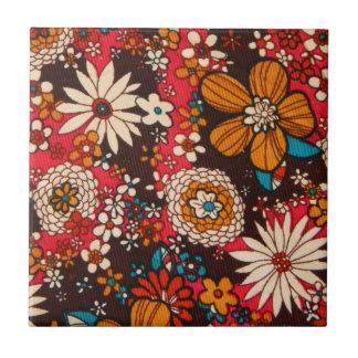 Rich sumptuous vintage floral textile pattern tile