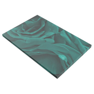 Rich teal blue-green velvety roses floral photo gallery wrap
