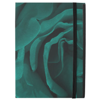 """Rich teal blue-green velvety roses floral photo iPad pro 12.9"""" case"""