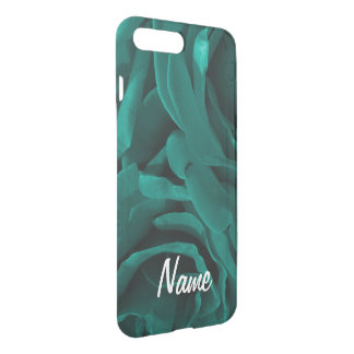 Rich teal blue-green velvety roses floral photo iPhone 7 plus case