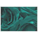 Rich teal blue-green velvety roses floral photo tissue paper