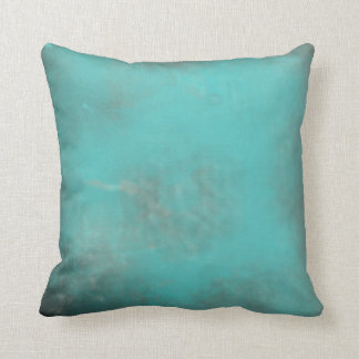 Rich Teal with Burnished Antique Edges Throw Pillow