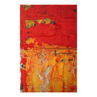 Rich Textured Red Yellow Abstract Stationery