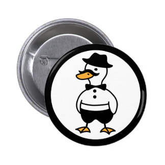 Rich Tux the Duck 2 Inch Round Button