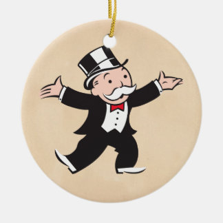 Rich Uncle Pennybags 1 Ceramic Ornament