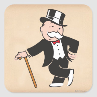 Rich Uncle Pennybags 3 Square Sticker