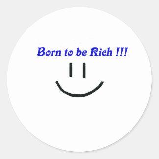 rich, wealth, fortune classic round sticker