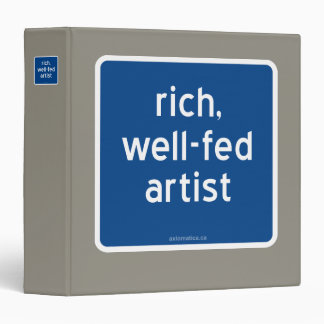 rich, well-fed artist binder