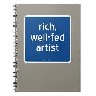 rich, well-fed artist notebook