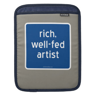 rich, well-fed artist sleeve for iPads
