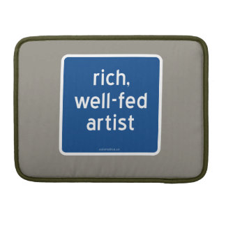 rich, well-fed artist sleeve for MacBook pro
