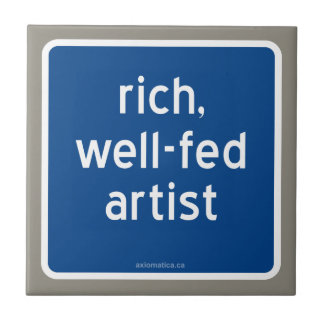 rich, well-fed artist tile
