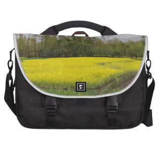 Rich yellow mustard fields in Kashmir Laptop Bags