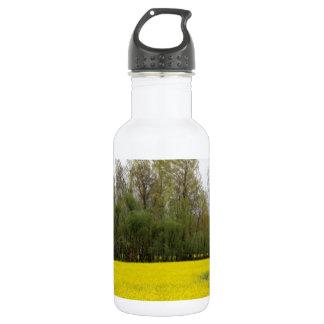 Rich yellow mustard fields in Kashmir Stainless Steel Water Bottle