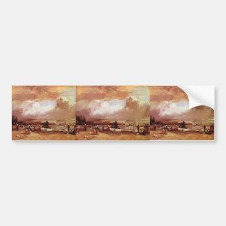 Richard Bonington- Parlerre d'eau a Versailles Car Bumper Sticker