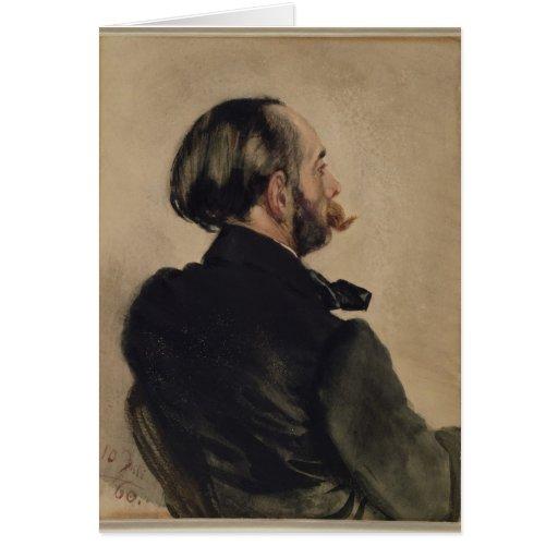 Richard, Brother del artista, 1860 Tarjeta De Felicitación