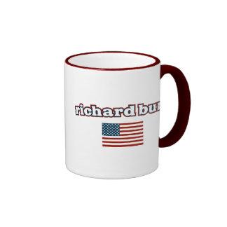 Richard Burr American Flag Coffee Mugs