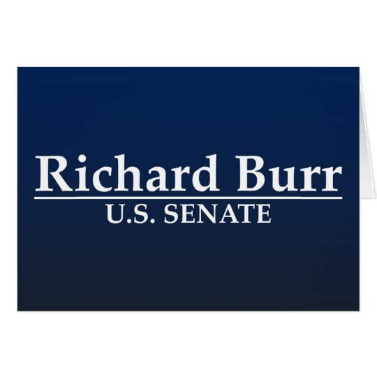Richard Burr U.S. Senate Card