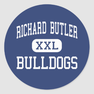 Richard Butler Bulldogs Middle Butler Classic Round Sticker