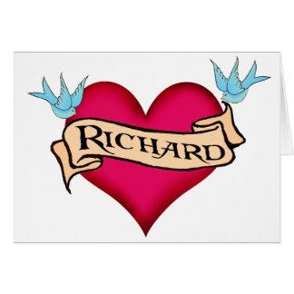 Richard - camisetas y regalos de encargo del tarjeta de felicitación
