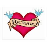 Richard - camisetas y regalos de encargo del tatua postales