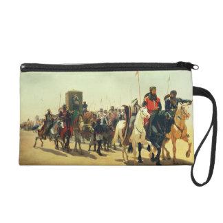 Richard Coeur de Lion on his way to Jerusalem Wristlet Clutch