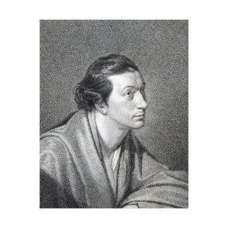 Richard Cumberland, engraved by James Hopwood Canvas Print