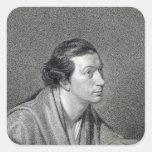 Richard Cumberland, grabado por James Hopwood Calcomanías Cuadradas