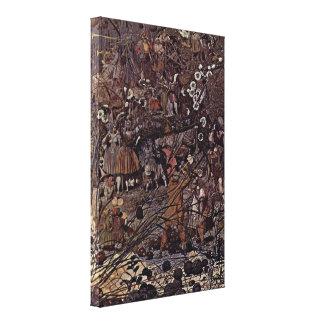 Richard Dadd - el Amo-Movimiento de hadas de los F Lona Estirada Galerias