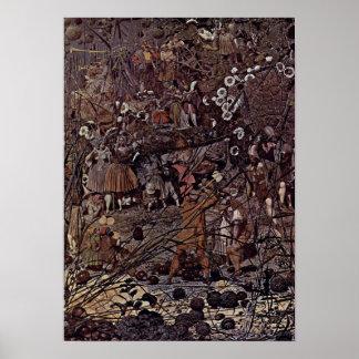 Richard Dadd - el Amo-Movimiento de hadas de los F Poster