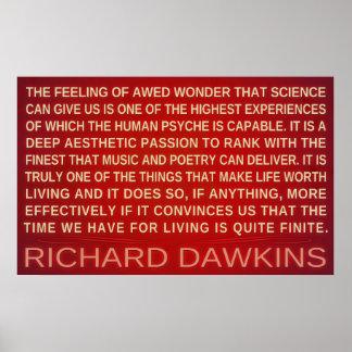 Richard Dawkins Wonder Science Gives Us Poster