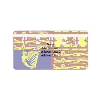 Richard Duke Of Gloucester, United Kingdom flag Address Label