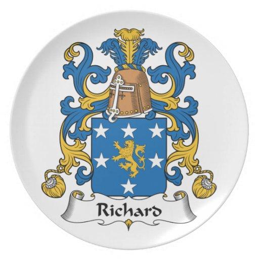 Richard Family Crest Dinner Plates