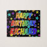 "[ Thumbnail: ""Richard"" First Name, Fun ""Happy Birthday"" Jigsaw Puzzle ]"