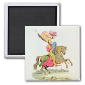 Richard Fitzhugh, Constable of Chester and Standar 2 Inch Square Magnet