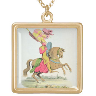 Richard Fitzhugh, Constable of Chester and Standar Square Pendant Necklace